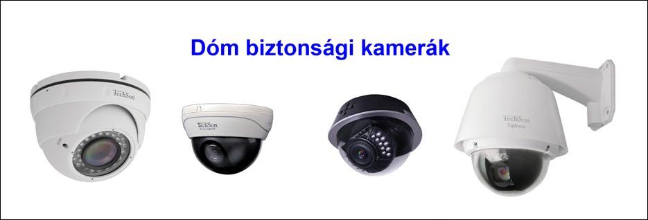 Dóm biztonsági kamera rendszer elemek