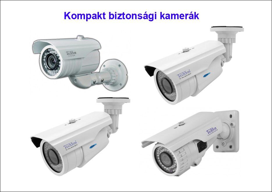 Kompakt biztonsági kamera rendszer elemek